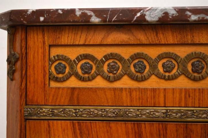 Schwedische Kommode mit Marmor antik