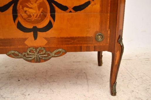 Antiikes  Schwedisches Inlaid Marble Top Kommode