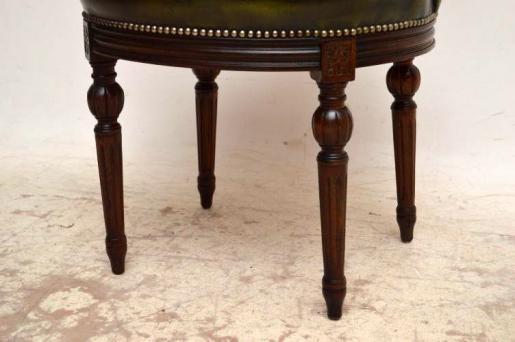 Antiker Mahogany & Leather  Büro Stuhl  Chair