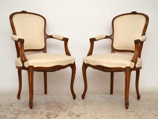 Paar Salon Stühle Armchairs französischer Stil