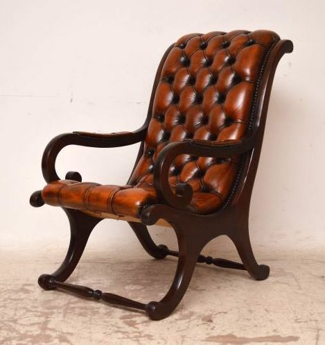 Paar antike Regency Armchairs