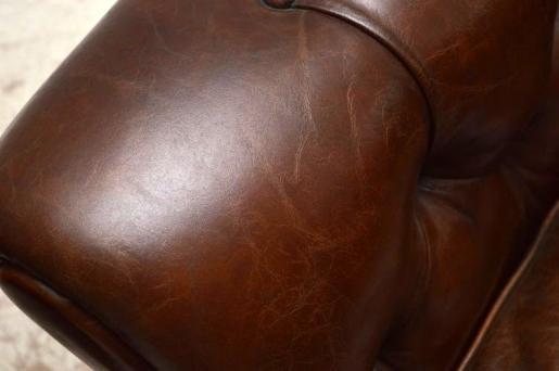 Paar 1950's  schwedischer Leather Leder r Armchairs