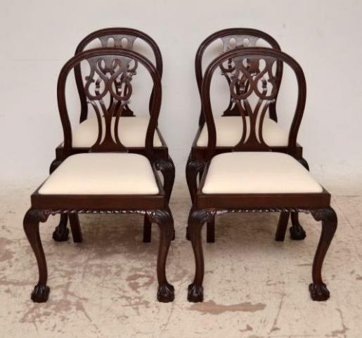 4Set antiker Esszimmerstühle Dining Chairs