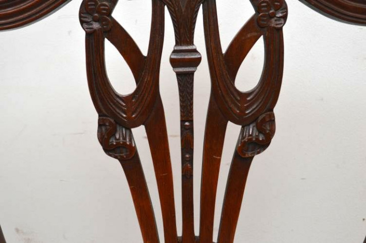 6Set antiker Esszimmerstühle Mahagoni