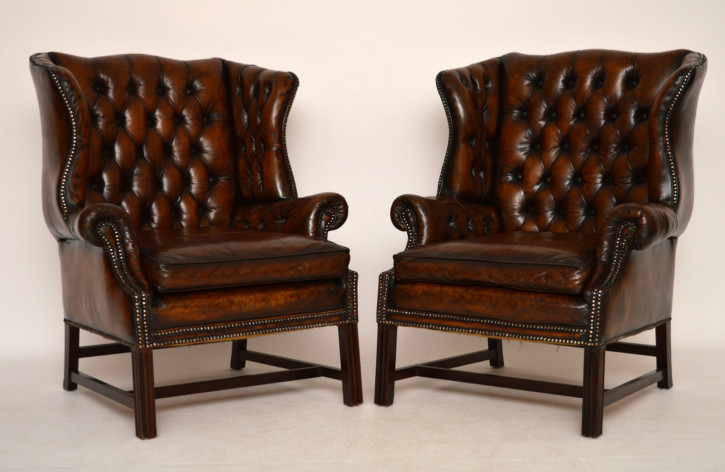 Antike Wing Chairs Ohrensessel