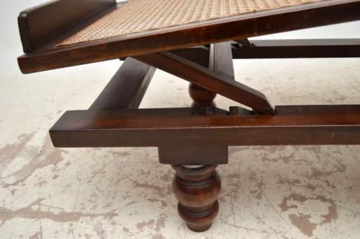 Ungewöhnlicher victorianischerSteamer Chair Daybed