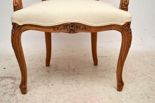 Seltenes Paar französischer Salon stühle Armchairs