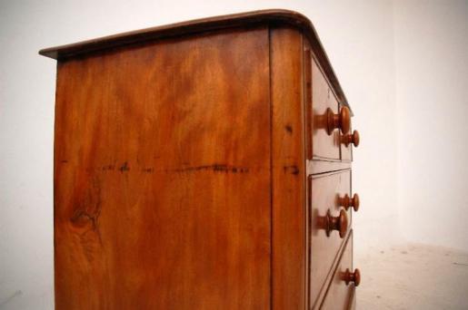 Victorianisches  Chest Kommode aus dem besonderem Satin Birch Holz