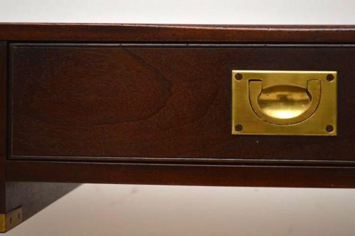 Antiker Schreibtisch Kampagne Stil Mahagoni