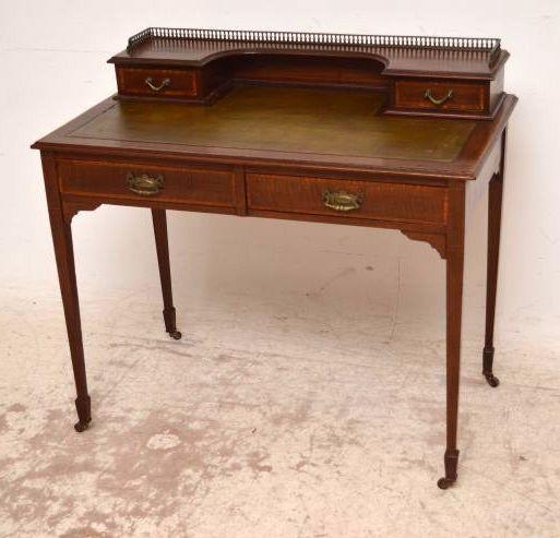 Antiker Edwardian Schreibtisch Mahagoni