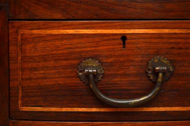 Antiker Mahagoni Schreibtisch Kampagne Stil Bürotisch aus Holz