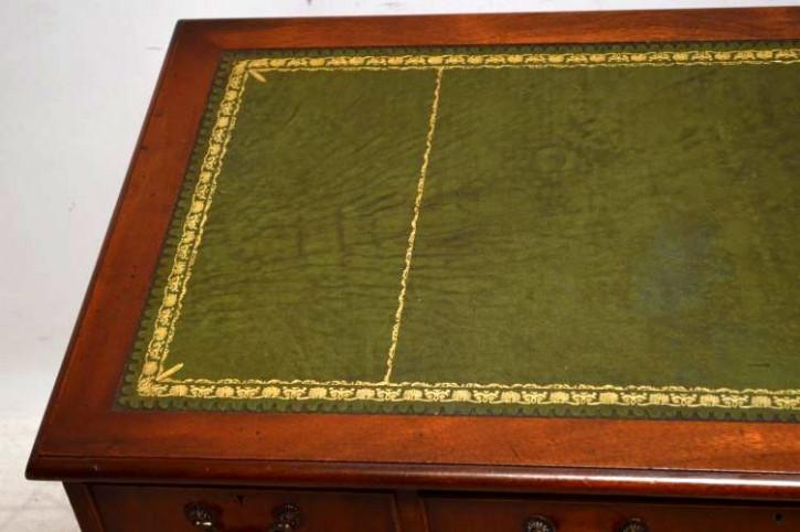 Antiker Schreibtisch Flamme Mahagoni