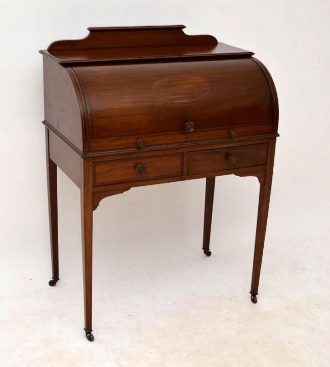 Antiker Viktorianischer Bureau Plat Schreibtisch Mahagoni Bürotisch