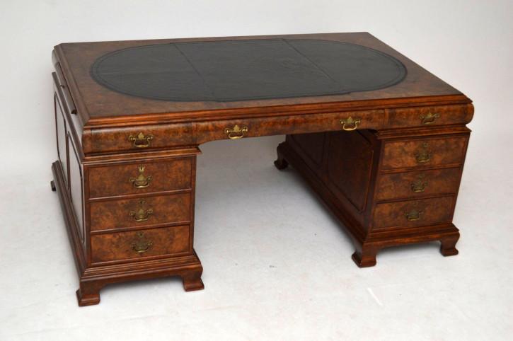 Antiker beeindruckender Partners Desk Schreibtsich
