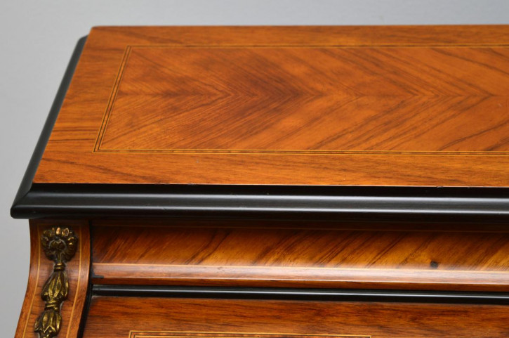 Antik-Französisch Zylinder Schreibtisch