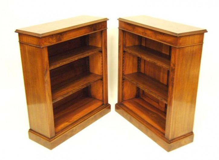 Ein Paar Vicatorian Bücherschränke