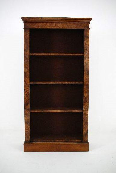Rekonstruierter antiker Victorian Nussbaum Bücherregal