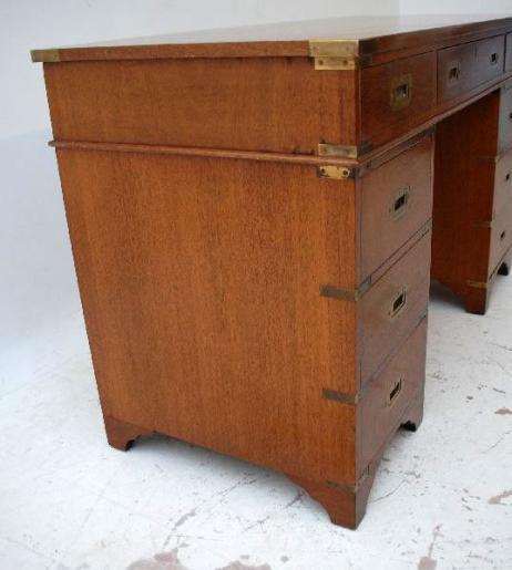 Antiker Mahagoni Schreibtisch Holzschreibtisch Büroschreibtisch