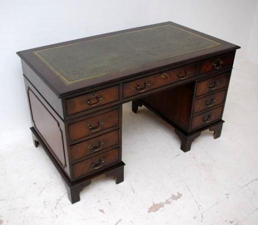 Georgianischer Schreibtisch - Mahagoni