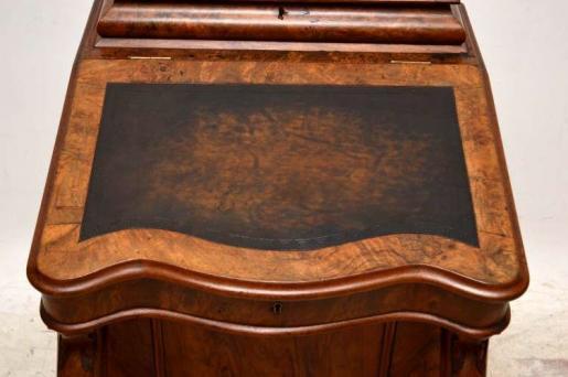 Seltener Nussbaum Davenport Desk Schreibtisch
