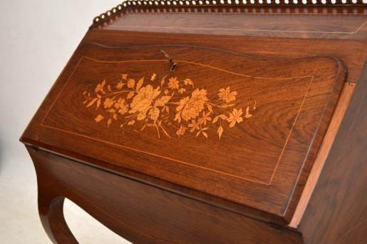 Antikes  Inlaid Rosewood  Sekretär  Bureau