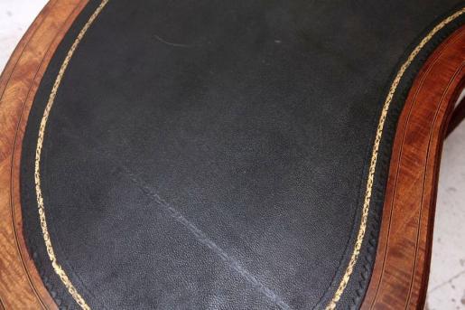 SDamenschreibtisch Mahagony mit Lederplatte Original edwarian