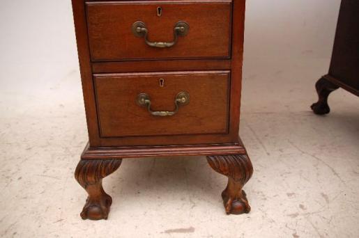 Antiker Schreibtisch Victorian  Original Lederplatte