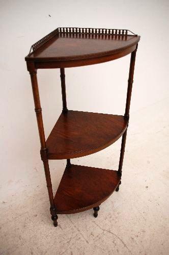 Mahogani Corner Stand  Original handpoliert