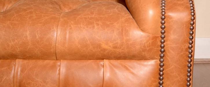 """Barrhill"" Chesterfield Sofa Original 3-Sitzer englisches Ledersofa"