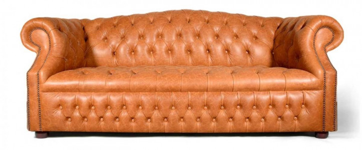 """Barrhill"" original Chesterfield Sofa englisches Ledersofa Echtleder"