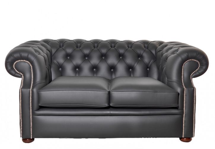 """""""Dover"""" 2-Sitzer original englisches Chesterfield Sofa  Echtleder"""