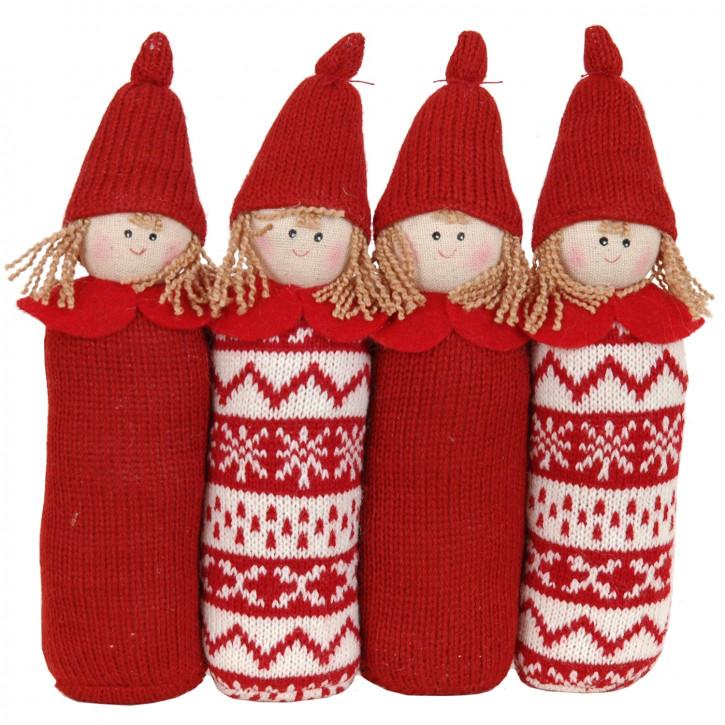 Außergewöhnliche Untersetzer Puppen rot