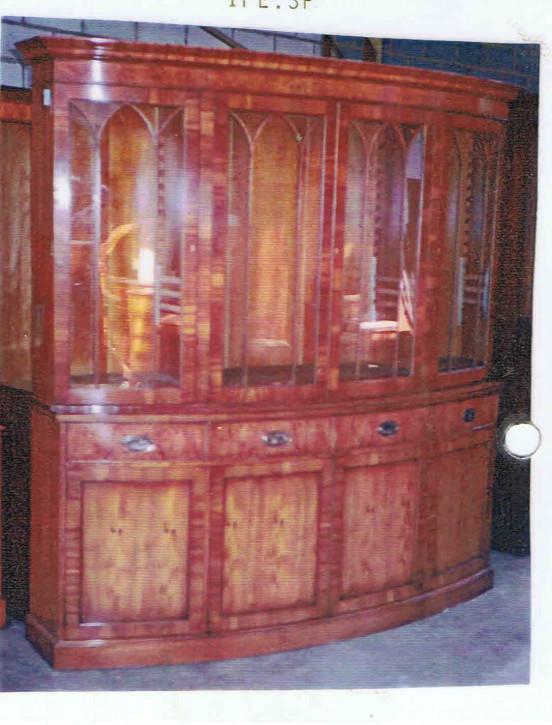 Allbow bookcase Sonderanfertigung Eibe   auch  in Mahagoni