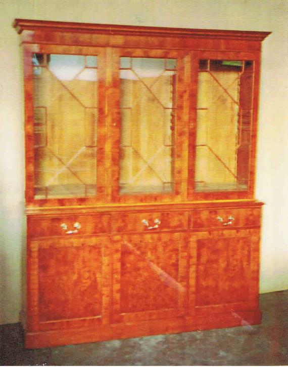 Flatfront bookcase 3 türiger Bücherschrank Eibe   auch  in Mahagoni