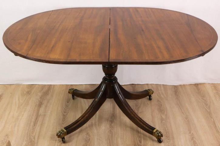 Eleganter Esstisch / Pillar Table, ausziehbar, Mahagoni