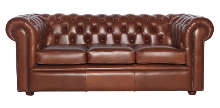 """William"" Chesterfield Sofa Original 4-Sitzer englisches Ledersofa"
