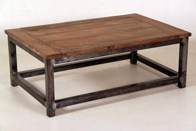 Teak Esstisch mit Metallgestell, versch. Größen