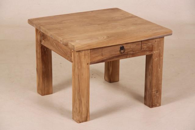 Kleiner Teak Tisch mit Schublade