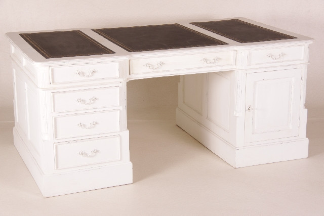 """Teak Schreibtisch """"Vintage White"""""""