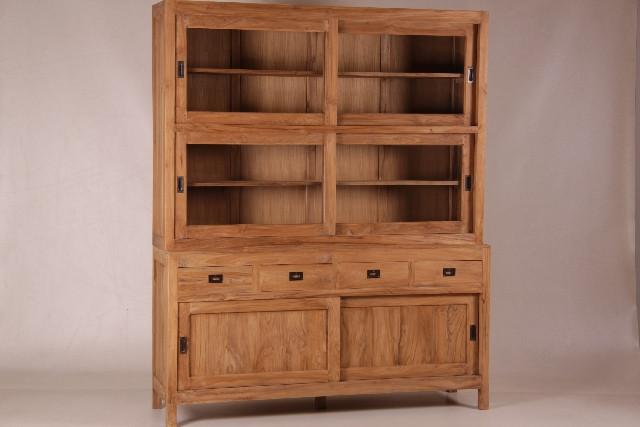 Geräumiger Ladenschrank aus Teak Holz