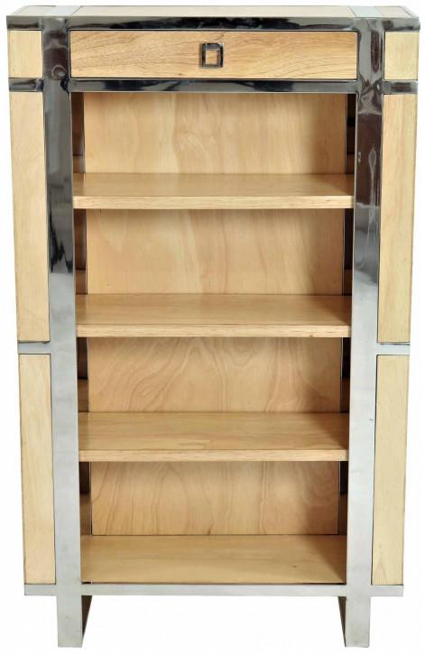 """""""Aston"""" Bücherschrank Holz Inox Natur"""
