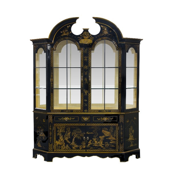 Vitrine Chinoiserie mit LED