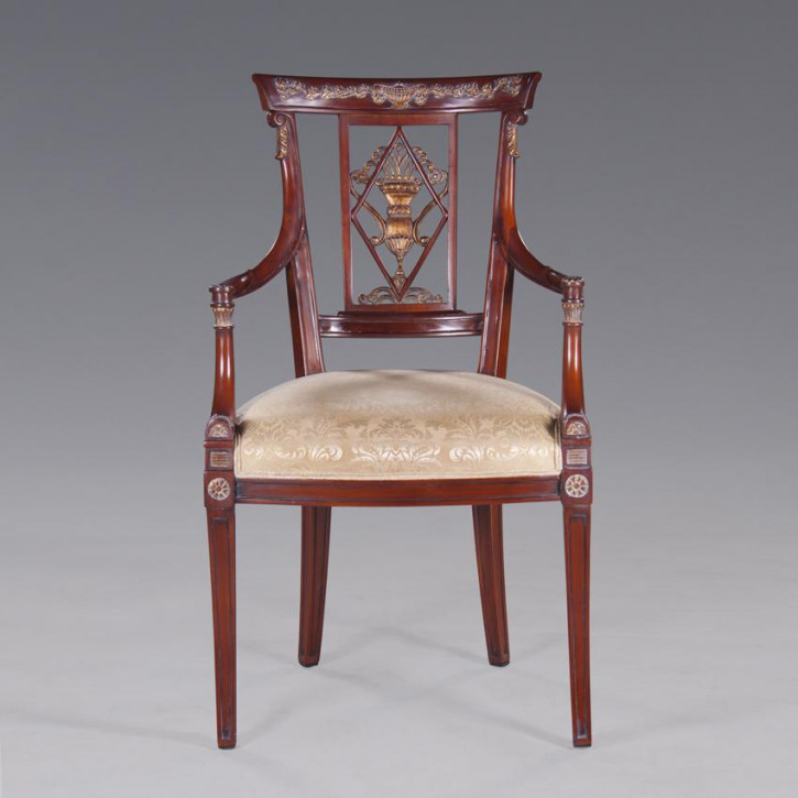 Stuhl mit Armlehne aus Kiefer