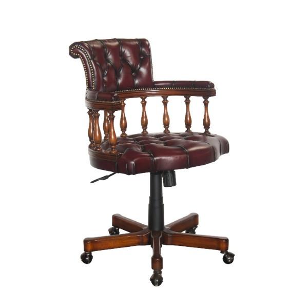 Schreibtischstuhl Bristol mit Leder