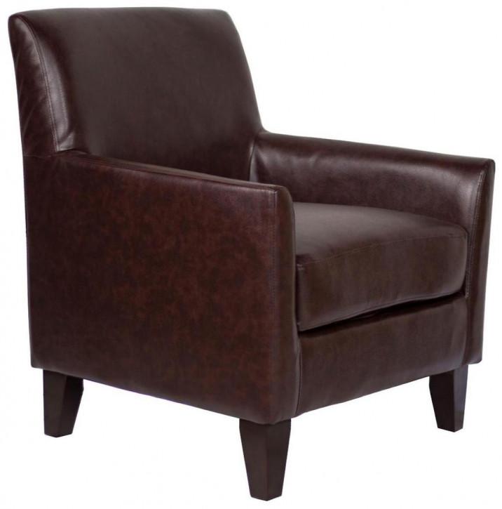 Klassischer französischer Kunstleder Sessel Retro Art Deco