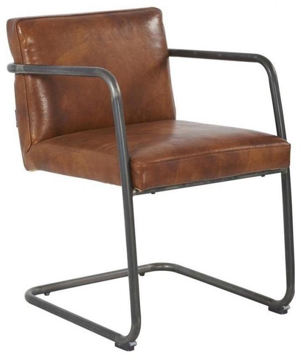 "Hochwertiger französischer Echtleder Stuhl Lederstuhl ""Dakota"""