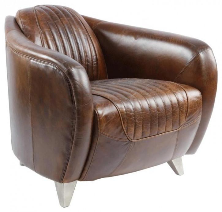 """Vintage Sessel Ledersessel französisch Clubsessel """"Sporster"""""""