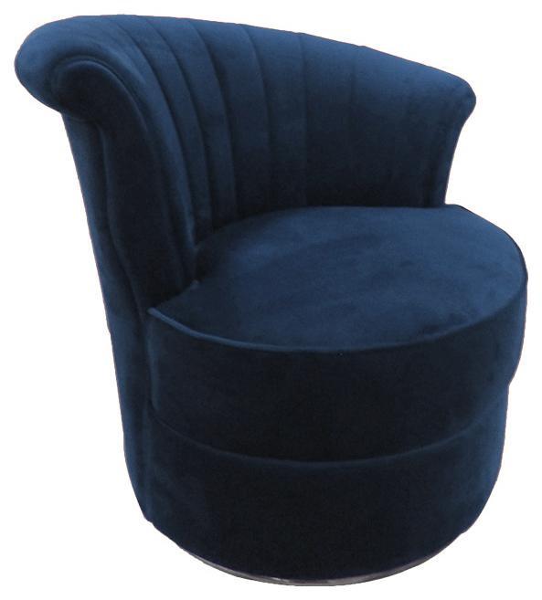 Französischer klassischer Retro Sessel Samt Retrosessel