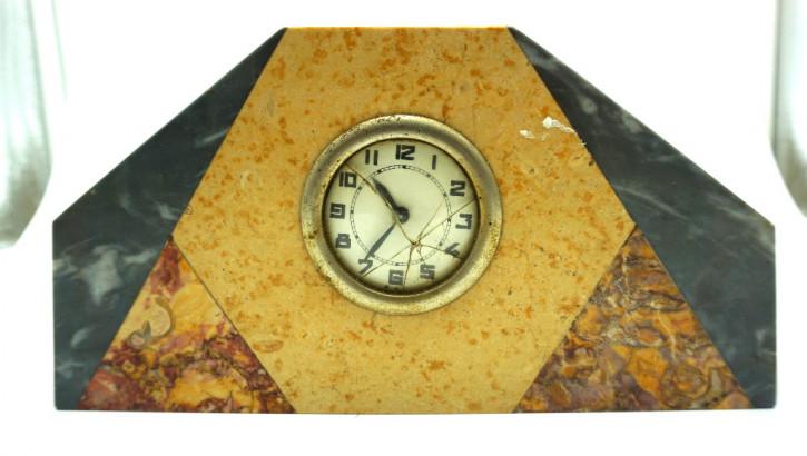Kleine Art Deco Uhr Marmor Frankreich 1920