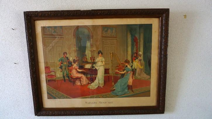 """Antiker Druck """"Matinée Musicale"""" Frankreich 1912"""